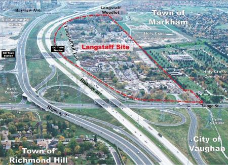 Langstaff Gateway Site Plan in Markham